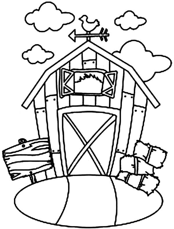 Barn coloring #3, Download drawings