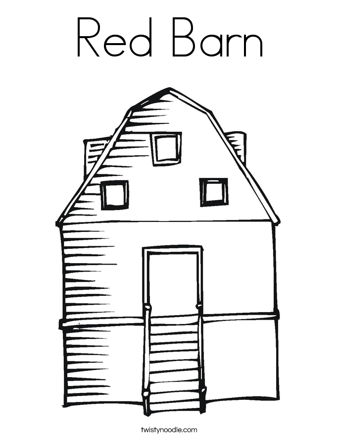 Barn coloring #4, Download drawings