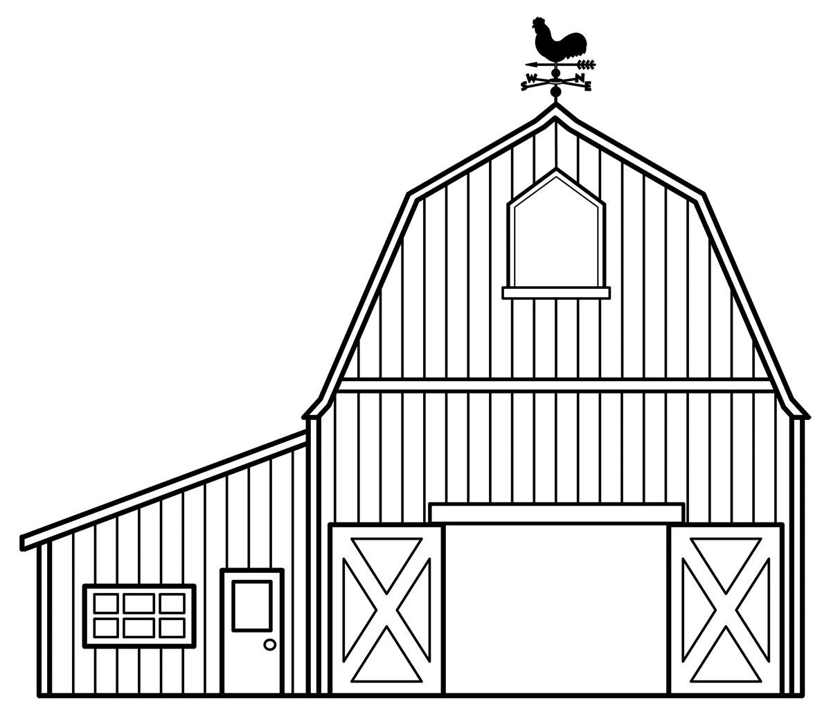 Barn coloring #14, Download drawings