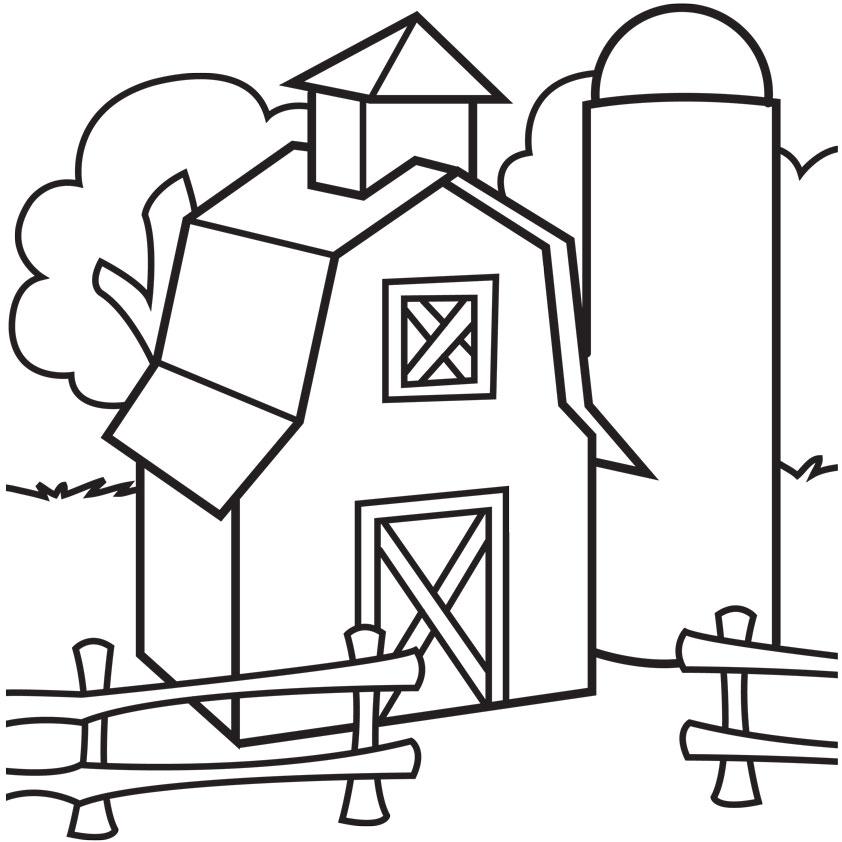 Barn coloring #18, Download drawings