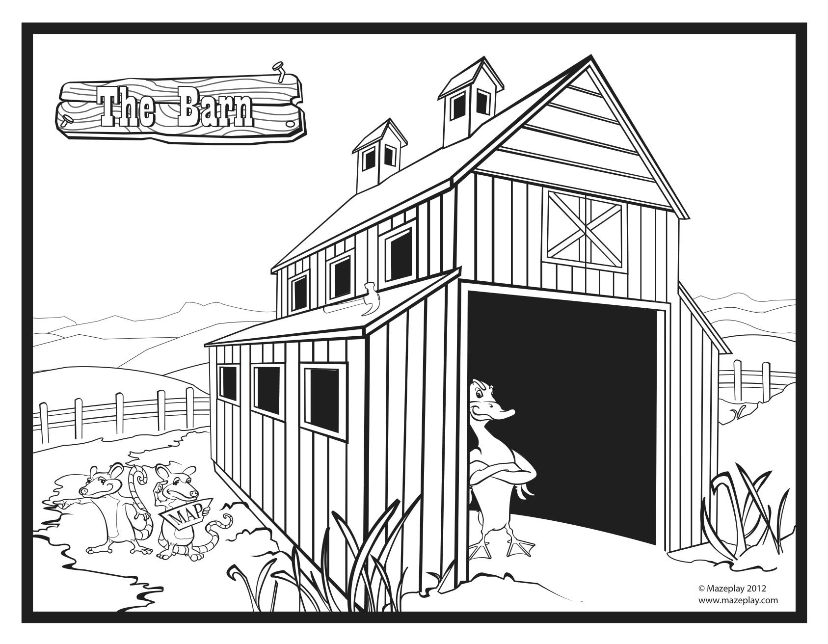 Barn coloring #9, Download drawings