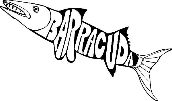 Barracuda coloring #18, Download drawings