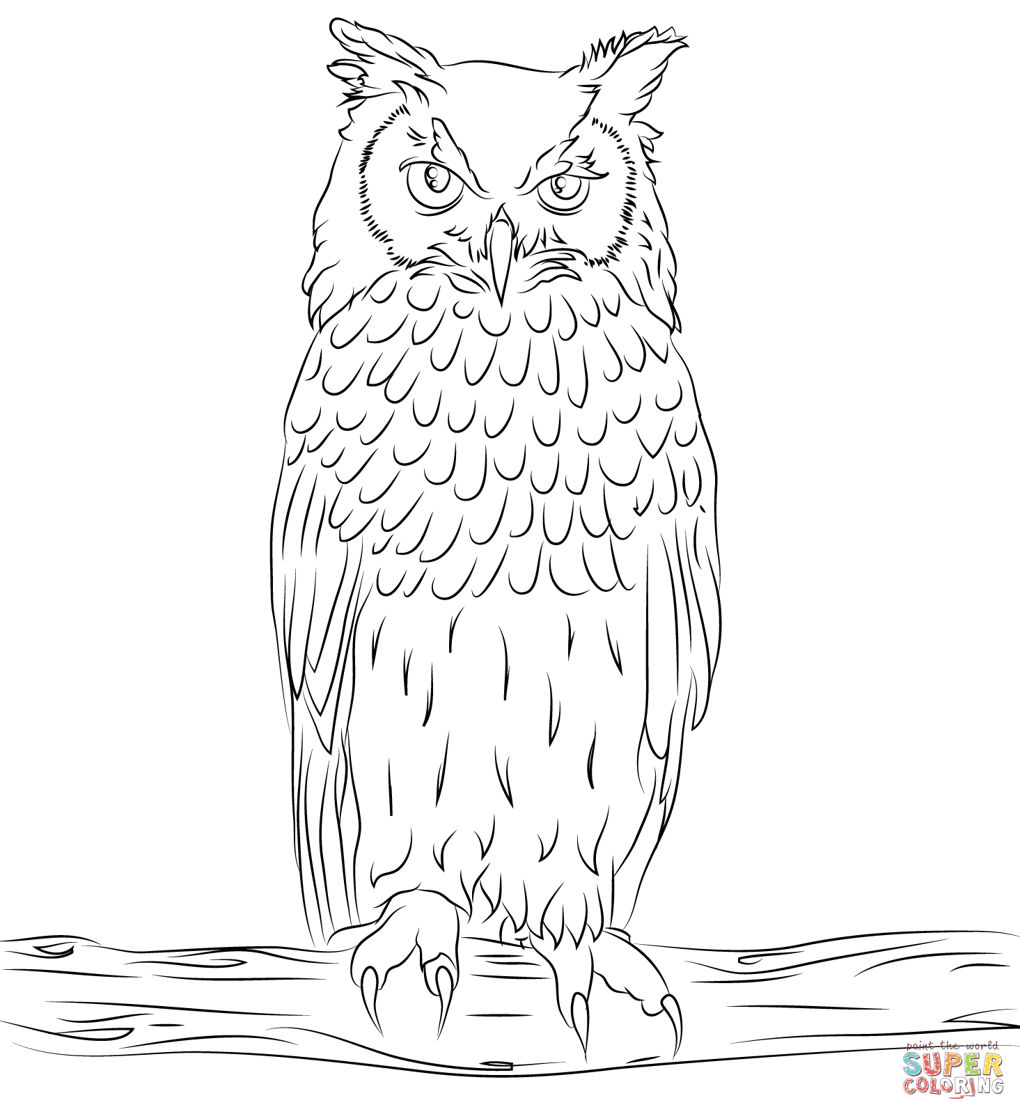 Eagle-owl coloring #16, Download drawings