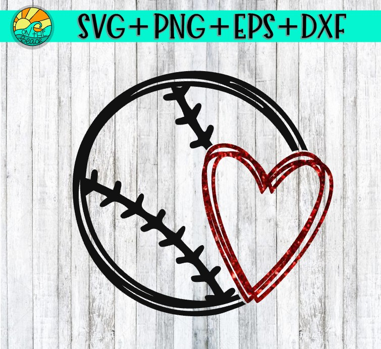 baseball heart svg #899, Download drawings