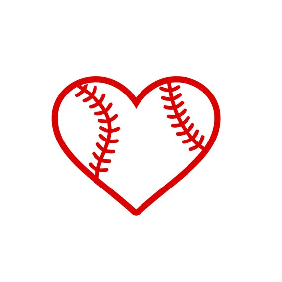 baseball heart svg #906, Download drawings