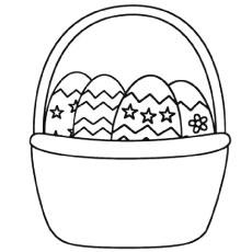 Basket coloring #2, Download drawings