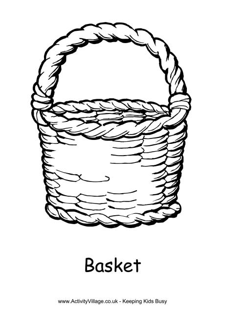 Basket coloring #12, Download drawings