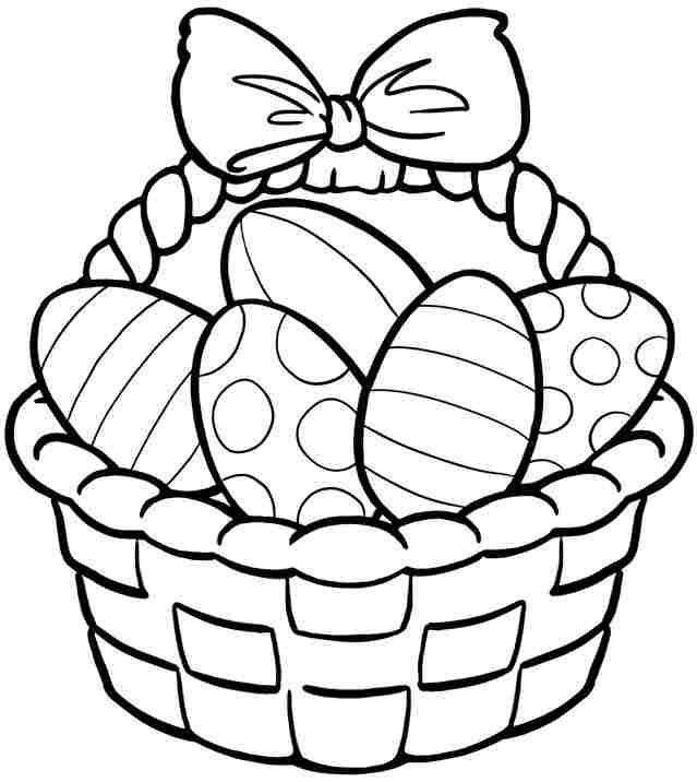 Basket coloring #4, Download drawings