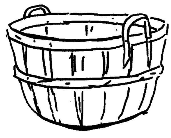 Basket coloring #9, Download drawings