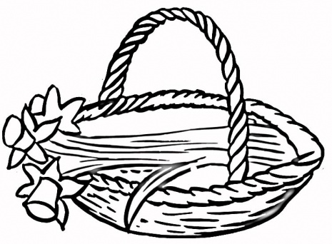 Basket coloring #3, Download drawings