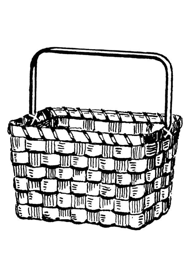 Basket coloring #5, Download drawings