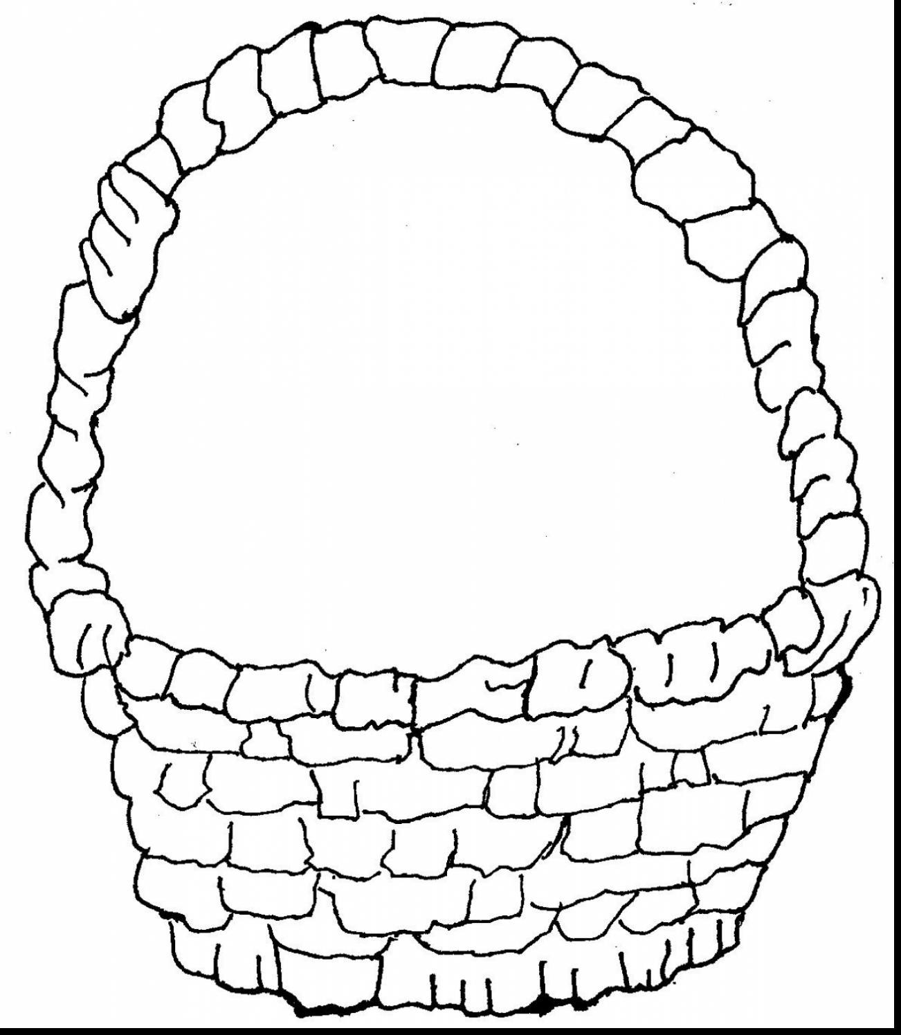 Basket coloring #17, Download drawings
