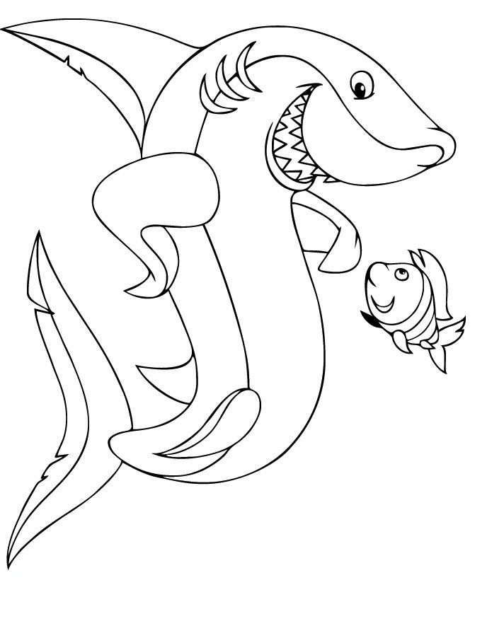 Great White Shark coloring #20, Download drawings