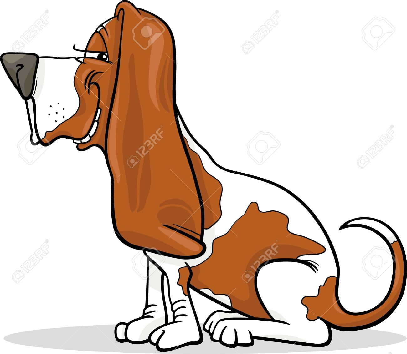 Basset Hound clipart #2, Download drawings