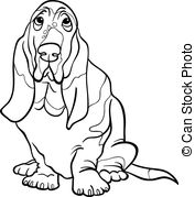 Basset Hound coloring #12, Download drawings