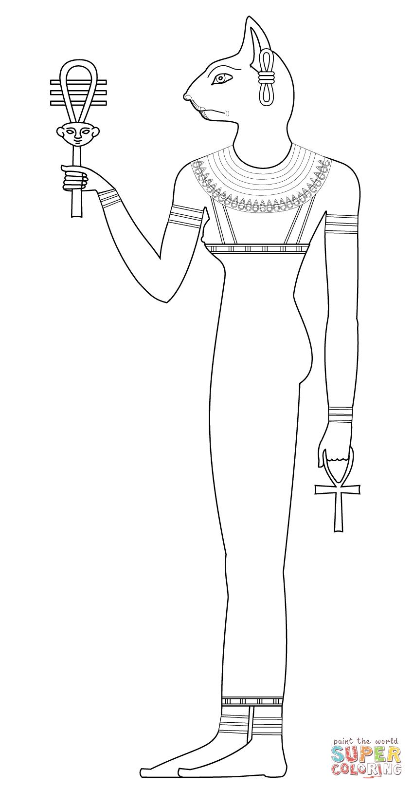 Bastet coloring #16, Download drawings