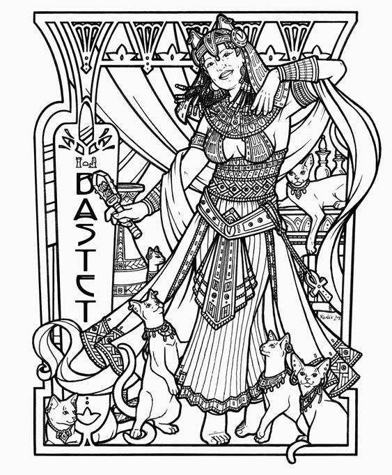 Bastet coloring #13, Download drawings