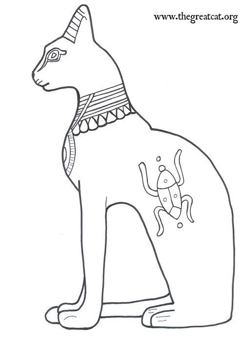 Bastet coloring #4, Download drawings