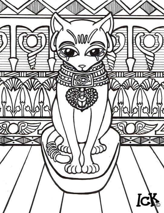 Bastet coloring #9, Download drawings