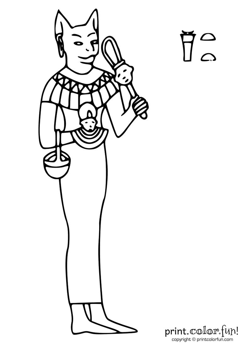 Bastet coloring #18, Download drawings