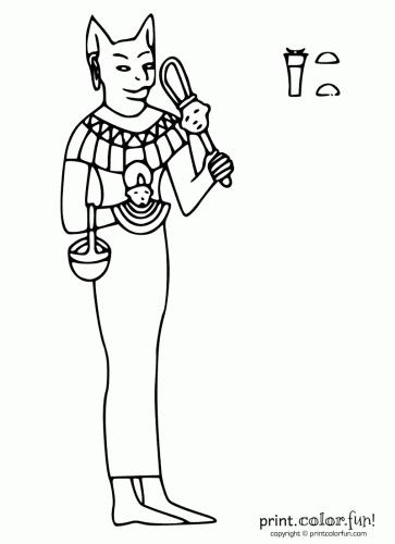 Bastet coloring #19, Download drawings