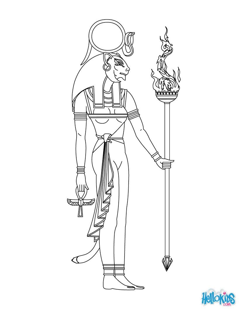 Sekhmet (Deity) coloring #20, Download drawings