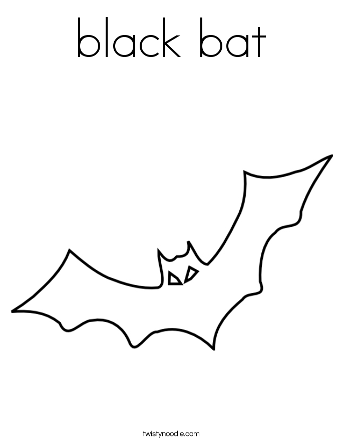 Bat coloring #1, Download drawings