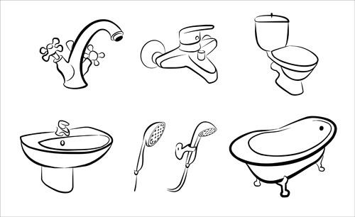 Bathroom svg #9, Download drawings
