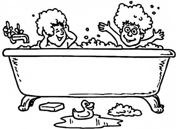 Bathtub coloring #13, Download drawings