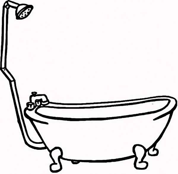 Bathtub coloring #7, Download drawings