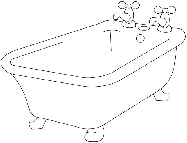 Bathtub coloring #15, Download drawings