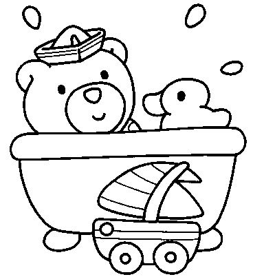 Bathtub coloring #6, Download drawings