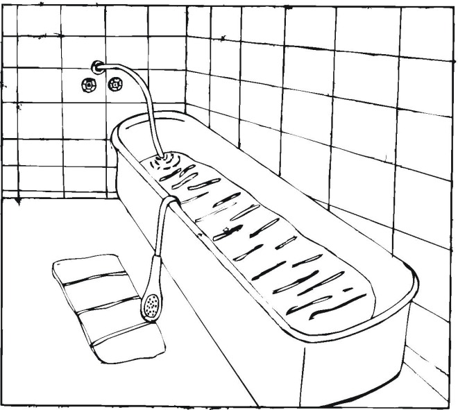 Bathtub coloring #11, Download drawings