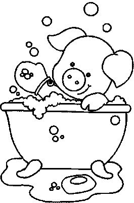Bathtub coloring #5, Download drawings