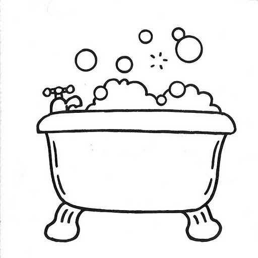 Bathtub coloring #19, Download drawings