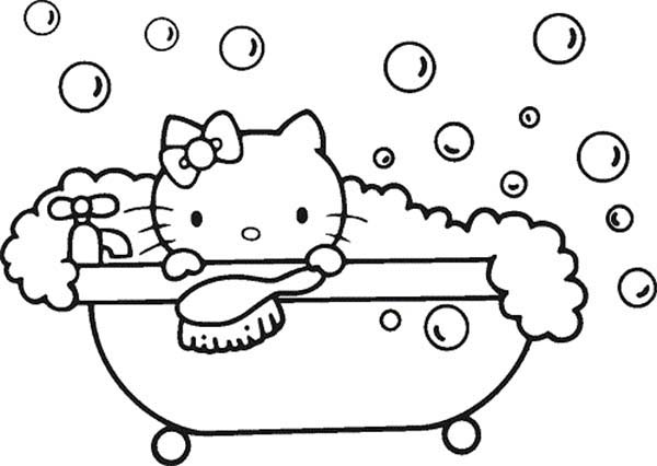 Bathtub coloring #2, Download drawings