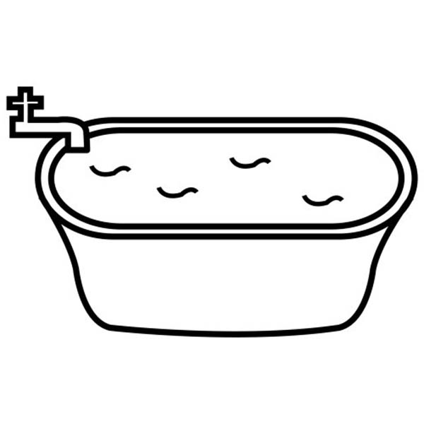Bathtub coloring #3, Download drawings