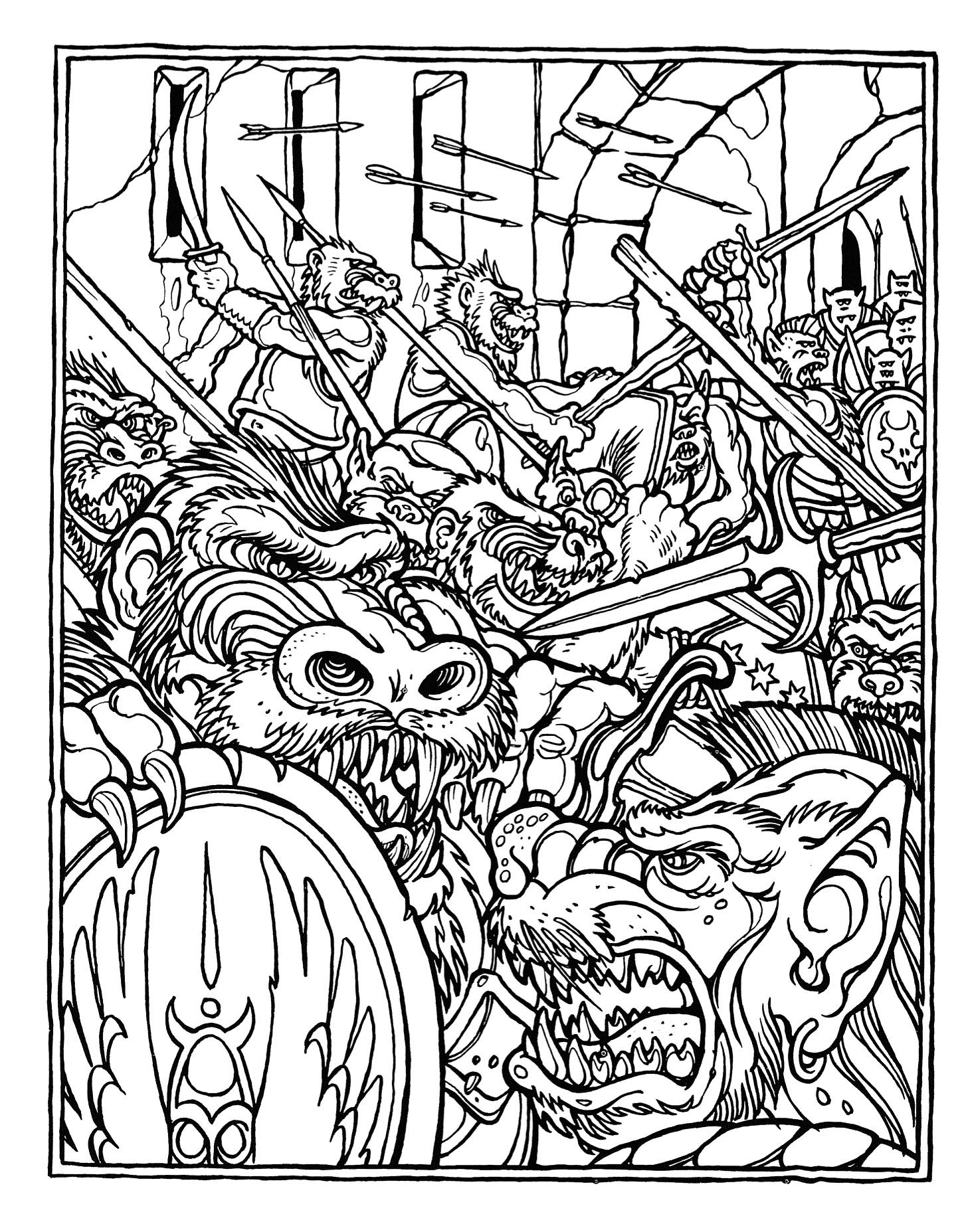 Battle coloring #1, Download drawings