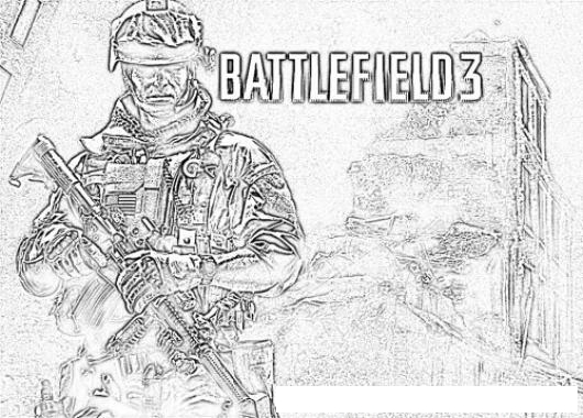 Battlefield coloring #3, Download drawings