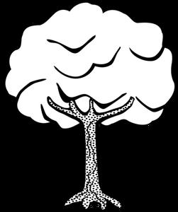 Baum Comic Schwarz Weiß