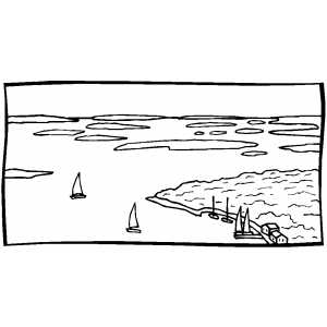 Bay coloring #4, Download drawings