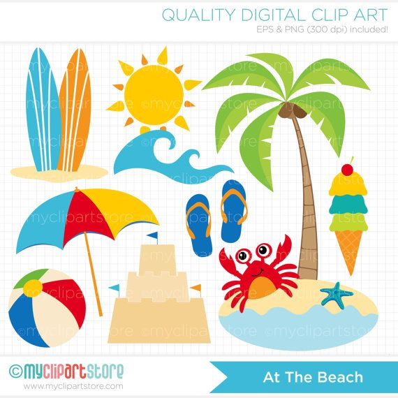 Beach clipart #2, Download drawings