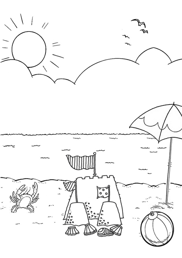 Beach coloring #8, Download drawings