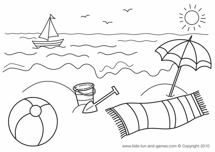 Beach coloring #17, Download drawings