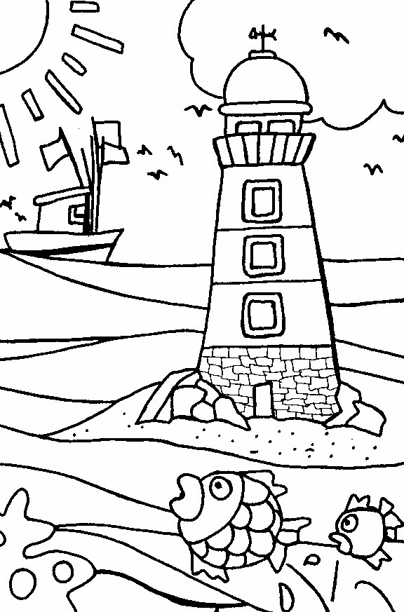 Beach coloring #6, Download drawings