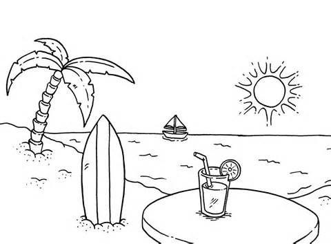 Beach coloring #16, Download drawings