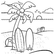 Beach coloring #18, Download drawings