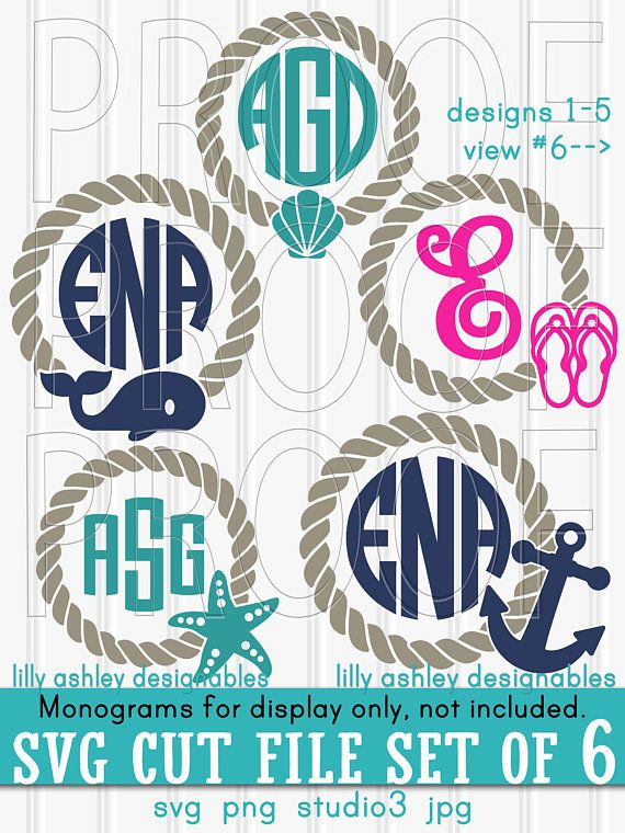 beach monogram svg #1071, Download drawings
