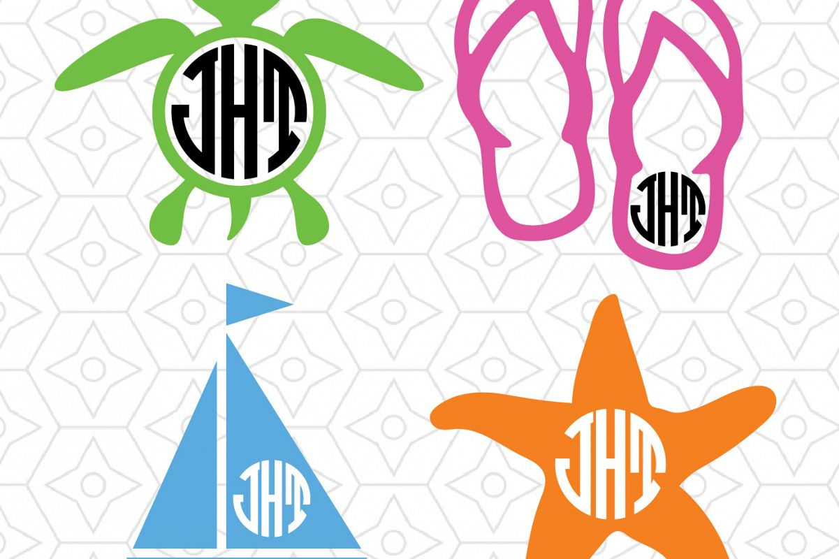 beach monogram svg #1065, Download drawings