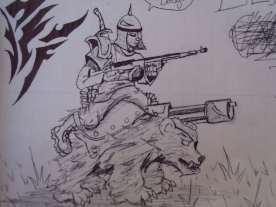 Bear Cavalry coloring #7, Download drawings
